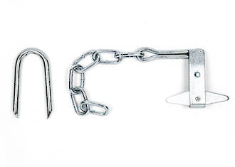 Butterfly Latch & Staple - Zinc