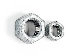 Coarse Thread - Galv. Hex Nut